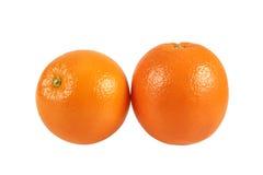 在白色查出的橙色果子 图库摄影