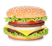 在白色查出的汉堡包 免版税库存照片
