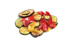 在白色查出的烤蔬菜 图库摄影