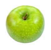 在白色查出的绿色苹果 免版税库存图片