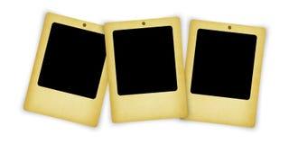 在白色查出的老空白照片框架 免版税库存图片