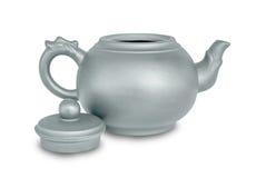 在白色查出的茶壶 库存图片
