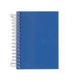 在白色查出的蓝色笔记本 免版税库存图片