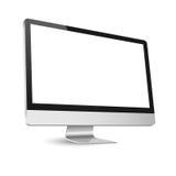 在白色查出的计算机显示器 库存照片