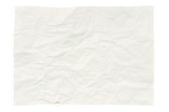 在白色查出的起皱纹的纸张 图库摄影
