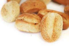 在白色查出的面包 库存照片