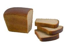 在白色查出的面包 库存图片