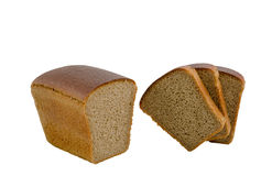 在白色查出的面包 免版税库存图片