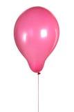在白色查出的紫色气球 免版税库存照片