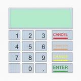 在白色查出的ATM键盘 免版税库存图片
