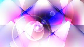 在白色桃红色背景的抽象蓝色正方形 免版税库存照片