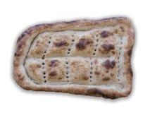 在白色桌上的烤箱面包 图库摄影