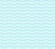在白色波浪样式传染媒介的蓝色 皇族释放例证