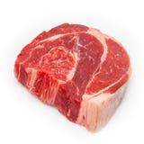 在白色演播室背景隔绝的牛肉肉的申英澈, 免版税库存照片