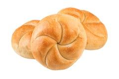 在白色特写镜头的小圆面包 库存图片