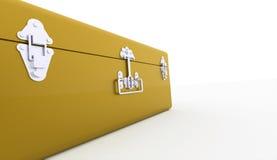 在白色的一个金胸口概念 免版税库存图片