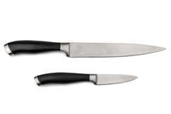 在白色的两把刀子 库存图片