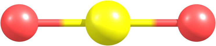 在白色的二氧化碳分子 库存照片