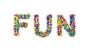 从在白色的五颜六色的球形成的乐趣 免版税库存图片