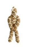绳索在白色的伏都教玩偶 库存照片