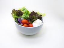 在白色的健康沙拉 库存图片