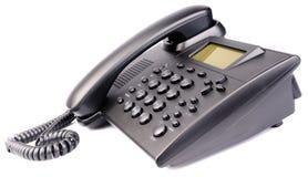 在白色的办公室电话 免版税库存图片