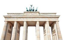 在白色的勃兰登堡门,柏林, 免版税库存照片
