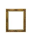 在白色的古色古香的金黄框架 免版税图库摄影