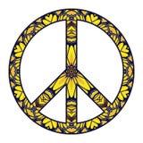 在白色的国际和平标志 库存照片