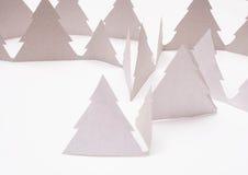 在白色的圣诞树 免版税库存图片