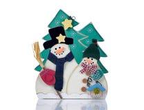 在白色的圣诞节装饰 免版税库存照片