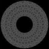 在白色的坛场样式凯尔特样式不尽的结标志在圈子形状的黑背景在爱尔兰人圣帕特里克` s天之前启发了 向量例证