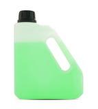 在白色的塑料加仑容器 免版税库存照片