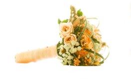 在白色的婚礼花束 免版税库存照片