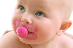 在白色的婴孩表面 库存图片