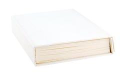 在白色的孤立书 免版税库存照片