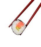 在白色的寿司卷 库存照片
