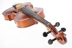 在白色的小提琴 免版税库存照片