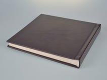 在白色的小黑象册 免版税库存照片