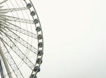 在白色的弗累斯大转轮 免版税库存照片