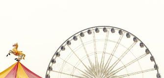 在白色的弗累斯大转轮 免版税库存图片