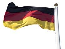 在白色的德国旗子 免版税库存图片