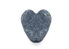 在白色的心脏石头 库存图片