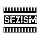 在白色的性别歧视邮票 库存例证