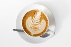 在白色的技工咖啡。 免版税库存图片
