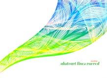 在白色的抽象五颜六色的艺术样式 库存例证