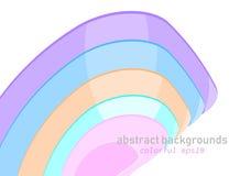在白色的抽象形状的颜色场面 免版税库存照片