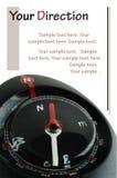 在白色的指南针 免版税图库摄影