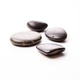 在白色的按摩石头 免版税库存照片