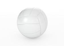 在白色的排球球 免版税库存图片